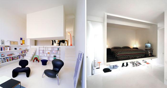 bedroom sculptural element hanging box studio
