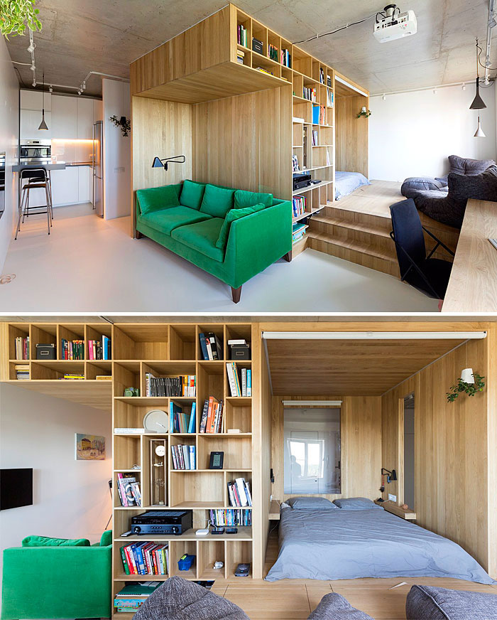 clever design ideas for small city apartments use space behind sofa