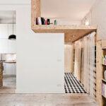 micro home design white wood color scheme