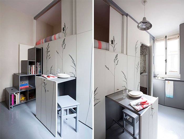 ultra small apartment designs under 100 square feet