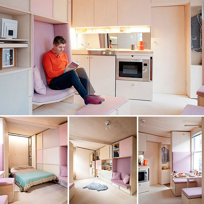 ultra tiny modern living space design